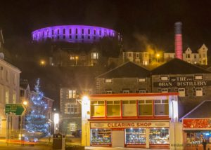 McCaig's Tower Lit Up