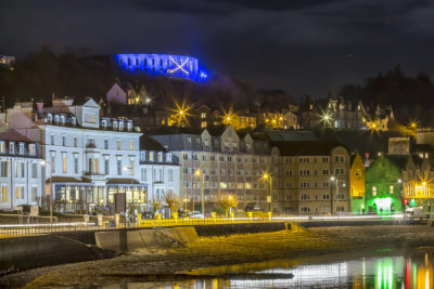 Oban's Esplanade with McCaig's Tower