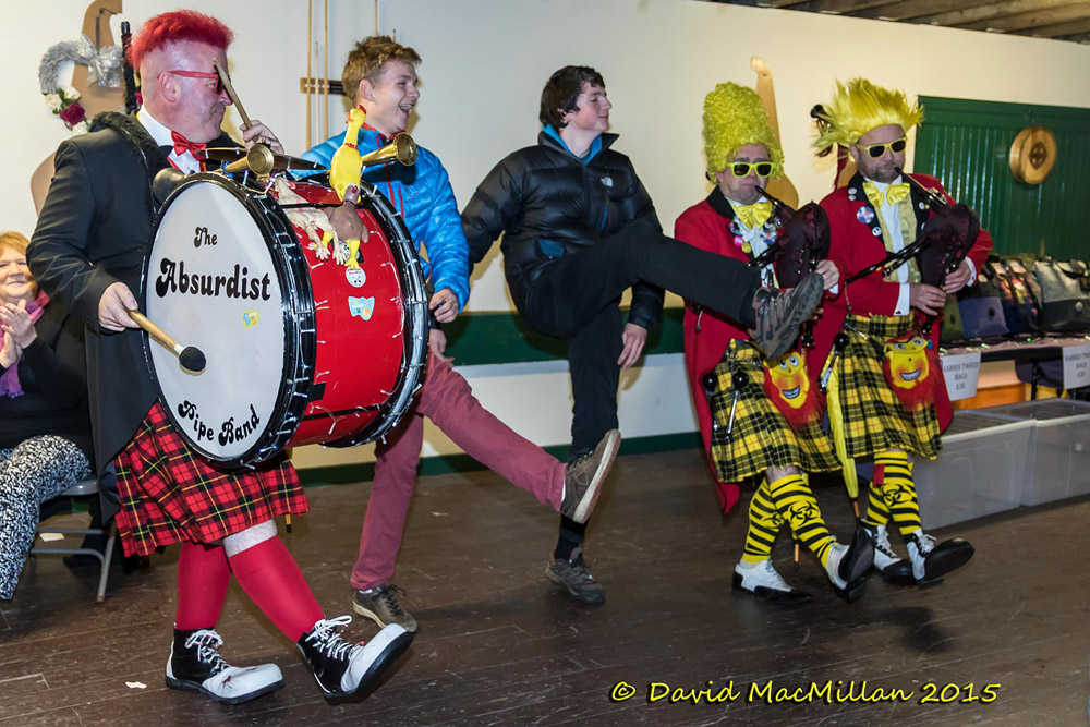 Absurdist Pipe band and Dancers