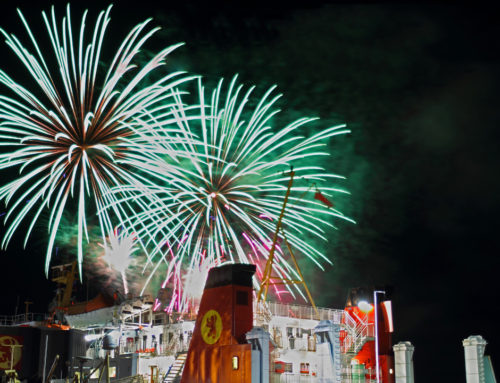 Fireworks Over Calmac Ferry