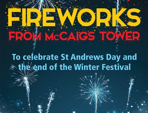 Fireworks From McCaigs Tower Saturday 30th November
